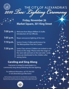 Tree Lighting Flyer