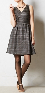 The metallic touches in this simple dress make it a classy choice from Anthropologie, $168