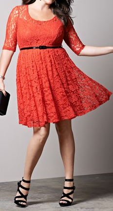 this flirty red plus size dress from nordstrom was almost sold out online the last