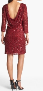 Okay, no Christmas tree will compete with you in this red sequin number. Check out the back on this dress! You'll turn heads, that's for sure. It's $188 from Nordstrom.